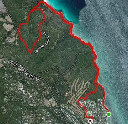 Trail run map